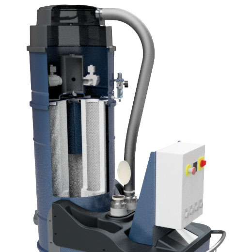 Automatic filter cleaning system (pneumatic)